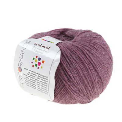 Strickgarn COOL WOOL 50g #78 dry mauve 75% Superwash Wolle – Bild 1