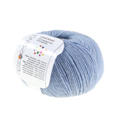 Strickgarn COOL WOOL 50g #85 himmelblau 75% Superwash Wolle – Bild 1