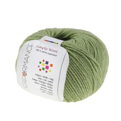 Strickgarn SIMPLY WOOL 50g #149 gelbgrün 100% Wolle (Merino), Naturstrickgarn  – Bild 1