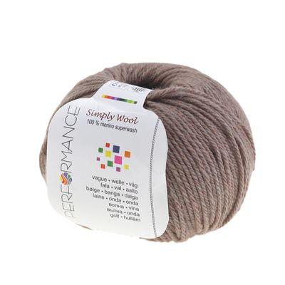 Strickgarn SIMPLY WOOL 50g, #224 braun rot Töne 100% Wolle (Merino), Naturstrickgarn  – Bild 1