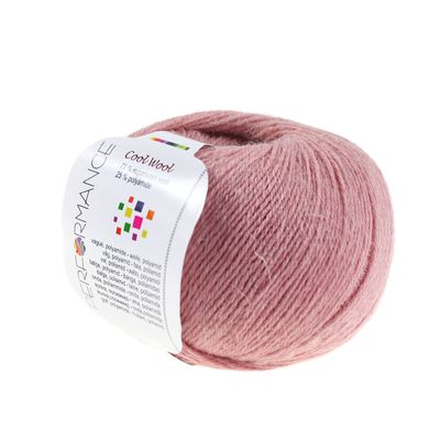 Strickgarn COOL WOOL 50g #28 altrosa 75% Superwash Wolle