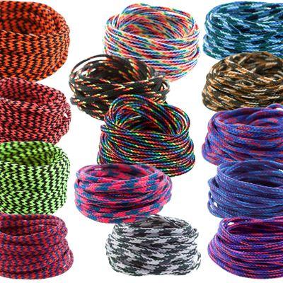 3m Polyesterschnur 4mm mehrfarbig PES Kordel Polyesterkordel Flechtschnur  – Bild 1