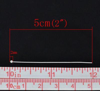 500 Kettelstifte / Nietstifte / Rundkopfstifte, sortiert, 0,5 x 50 mm, silbern – Bild 2