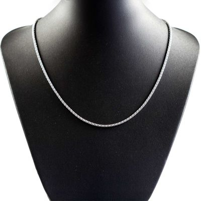 1 Glieder-Kette Halskette Fädelkette 52cm lang, Edelstahl, silberfarbig – Bild 1