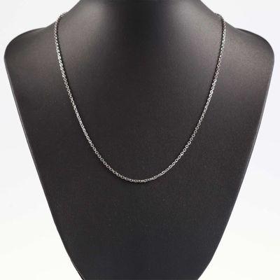 1 Edelstahl Glieder-Kette Kette Halskette Fädelkette 52cm lang, silberfarbig – Bild 4