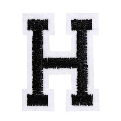 1 Buchstaben Aufbügler, 15-43x45mm, Applikation, Aufnäher, schwarz – Bild 9