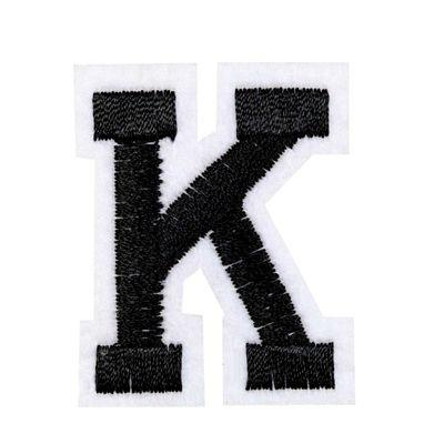 1 Buchstaben Aufbügler, 15-43x45mm, Applikation, Aufnäher, schwarz – Bild 12