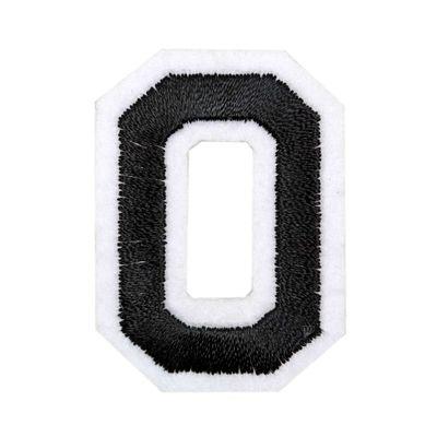 1 Buchstaben Aufbügler, 15-43x45mm, Applikation, Aufnäher, schwarz – Bild 16