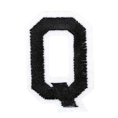 1 Buchstaben Aufbügler, 15-43x45mm, Applikation, Aufnäher, schwarz – Bild 18