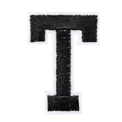 1 Buchstaben Aufbügler, 15-43x45mm, Applikation, Aufnäher, schwarz – Bild 21