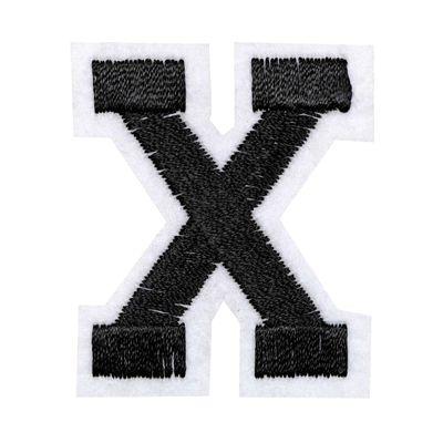 1 Buchstaben Aufbügler, 15-43x45mm, Applikation, Aufnäher, schwarz – Bild 25