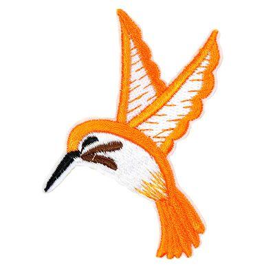 1 Kolibri Vogel Vögelchen, Aufbügler Bügelbild Applikation Aufnäher, 7x7,5cm – Bild 3