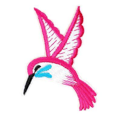 1 Kolibri Vogel Vögelchen, Aufbügler Bügelbild Applikation Aufnäher, 7x7,5cm – Bild 6