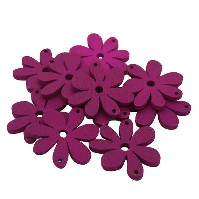 10 Blumenanhänger Verbinder Holzdekoration, 20 x 25 mm, freie Farbwahl – Bild 2