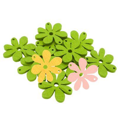 10 Blumenanhänger Verbinder Holzdekoration, 20 x 25 mm, freie Farbwahl – Bild 20