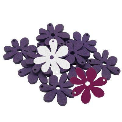 10 Blumenanhänger Verbinder Holzdekoration, 20 x 25 mm, freie Farbwahl – Bild 24