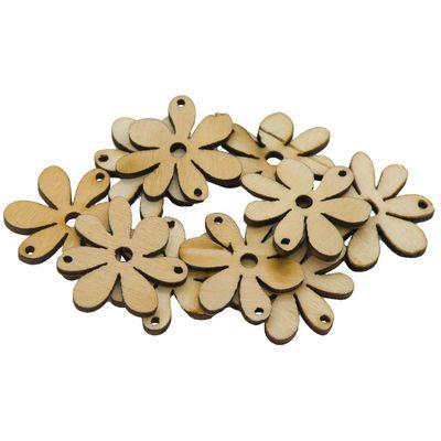 10 Blumenanhänger Verbinder Holzdekoration, 20 x 25 mm, freie Farbwahl – Bild 8