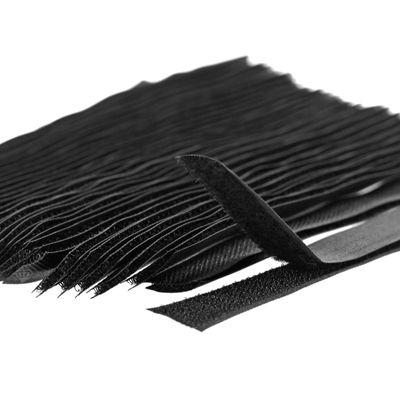 25 Paar Klettband zum Annähen 20cm x 20mm, schwarz oder weiß Set – Bild 2