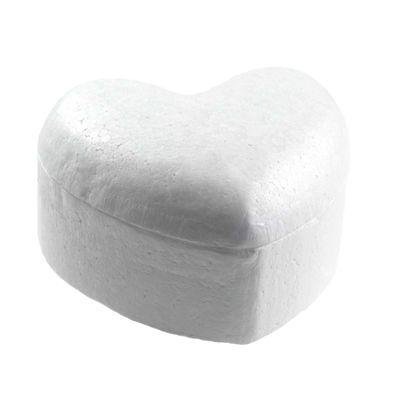 1 Styropor Herz Dose Rohling 13,5x15x8,5cm, weiß, Deko Aufbewahrung Verschenkbox – Bild 4