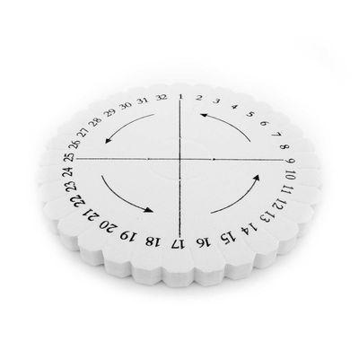 Kumihimo Flechtscheibe Flechthilfe rund oder quadratisch Stärke 8mm, weiß – Bild 1