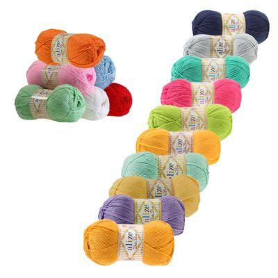 5 x 100g Strickgarn ALIZE Baby Best uni, Antipilling, freie Farbwahl – Bild 1