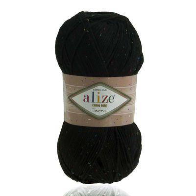 Strickgarn Alize Cotton Gold Tweed, 100g, 57% Baumwolle, freie Farbwahl – Bild 4