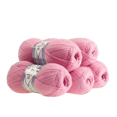 5 x 100g Strickgarn ALIZE Lanagold 800 49% Wolle, freie Farbwahl – Bild 3
