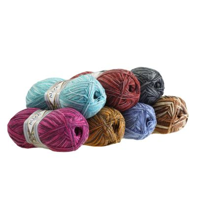 5 x 100g Strickgarn ALIZE Tig Color & Batik 25% Wolle, Farbvarianten multicolor – Bild 1