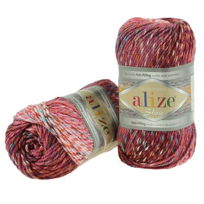 100g Strickgarn ALIZE Show Punto Batik 100% Acryl, Farbvarianten multicolor – Bild 4