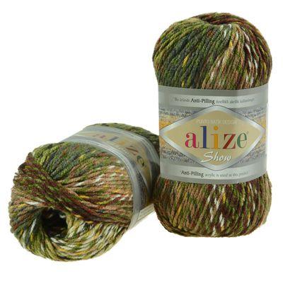 100g Strickgarn ALIZE Show Punto Batik 100% Acryl, Farbvarianten multicolor – Bild 6