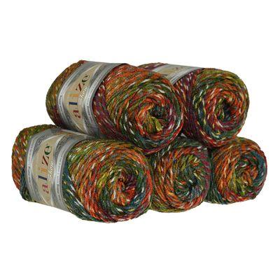 5 x 100g Strickgarn ALIZE Show Punto Batik Winter Acryl-Wolle, Farbwahl – Bild 20