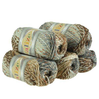 5 x 100g Strickgarn ALIZE Show Punto Batik Winter Acryl-Wolle, Farbwahl – Bild 10