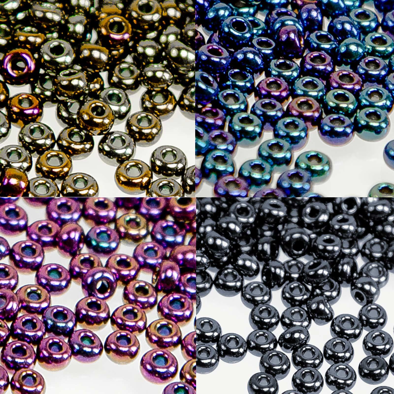 Effekt Wandfarbe Bronze Metallic: 20g Rocailles Glasperlen 8/0 3mm, Iris Effekt
