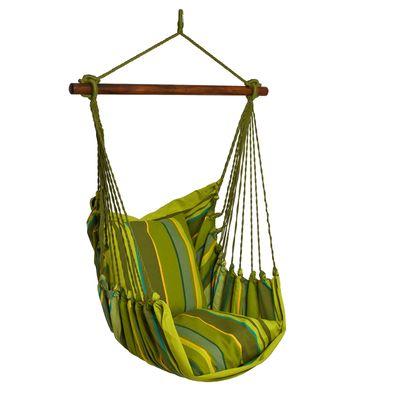 Hängesessel RELAX, Baumwolle Streifendesign, bis 120kg, ohne Kissen, Farbwahl – Bild 2