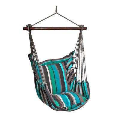 Hängesessel RELAX, Baumwolle Streifendesign, bis 120kg, ohne Kissen, Farbwahl – Bild 6