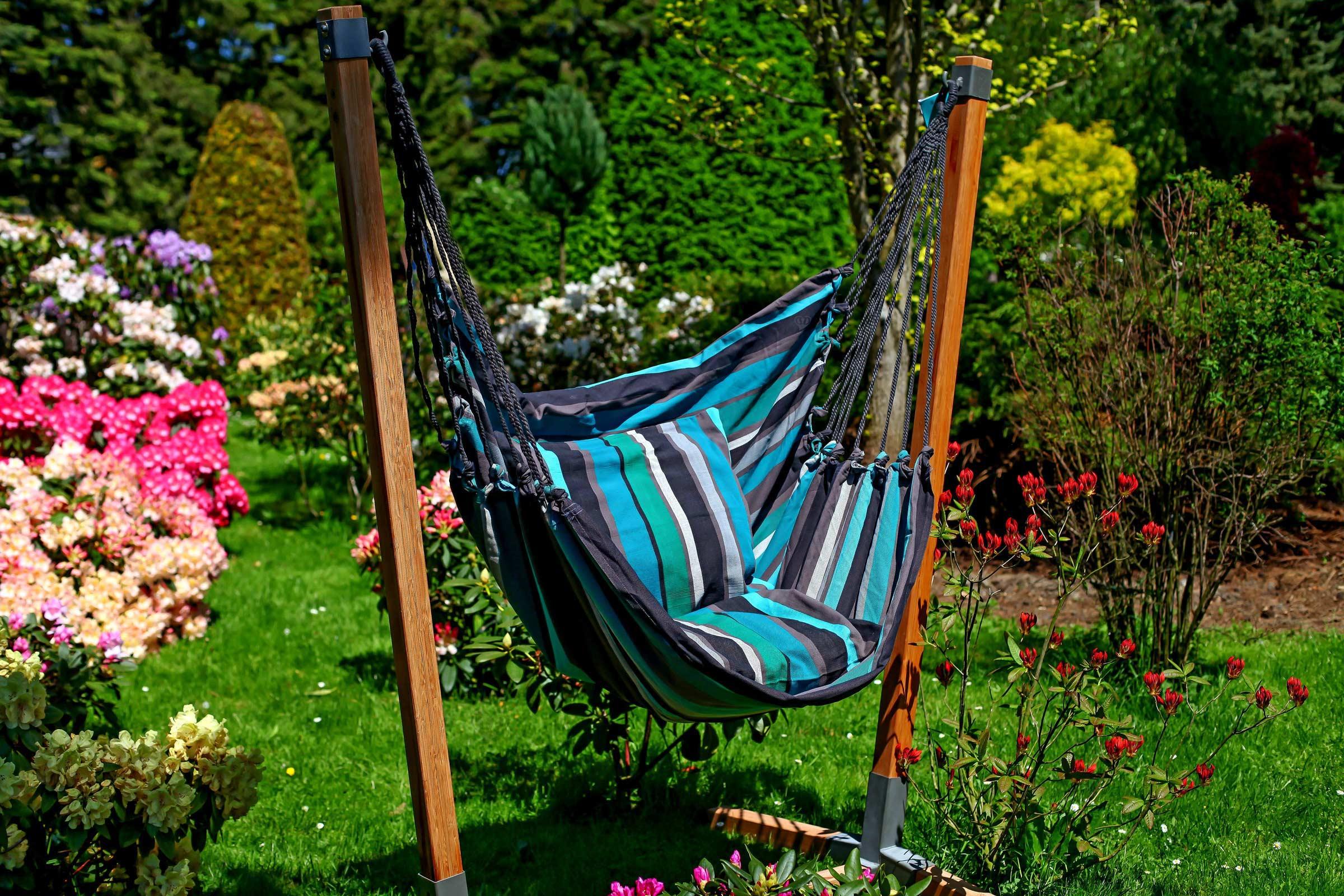 h ngesessel h ngesitz relax xl streifen baumwolle ohne kissen freie farbwahl wohnen leben. Black Bedroom Furniture Sets. Home Design Ideas