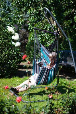 Hängesessel Hängesitz RELAX XL Streifen Baumwolle, ohne Kissen, freie Farbwahl – Bild 9