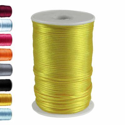 10m Satinschnur 2mm Flechtschnur Satinkordel Kumihimo freie Farbwahl – Bild 24