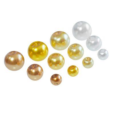 400 Glas-Perlen 4mm Fädelperlen Bastelperlen Schmuckperlen Glasperlen Farbmix – Bild 13