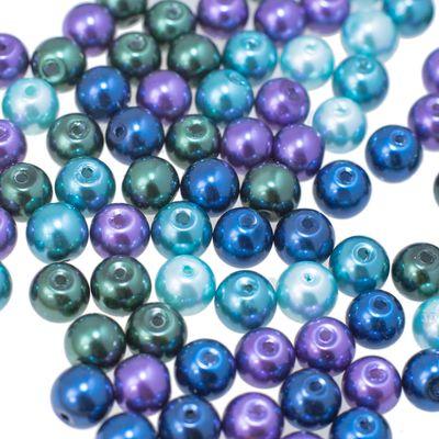 400 Glas-Perlen 4mm Fädelperlen Bastelperlen Schmuckperlen Glasperlen Farbmix – Bild 8