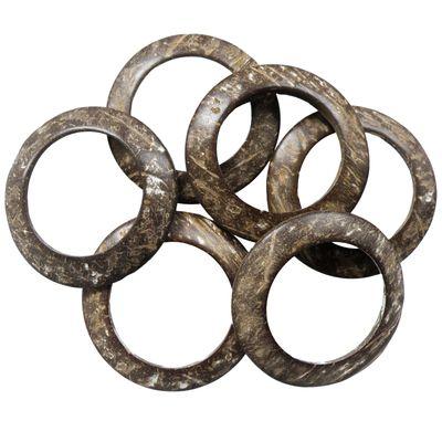 10 Holzringe Bastelring - Ringe aus Kokosnuss stabil rund  60~63mm – Bild 1