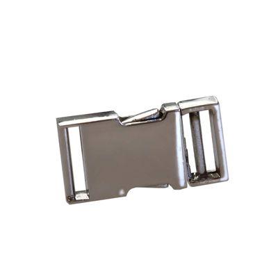 1 Robuste Metall-Steckschließe Steckschnalle f. Bandbreite 15mm, silbern – Bild 1