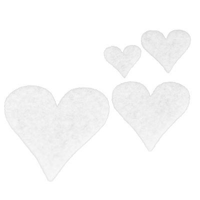 50 Filz Herzen, Streudeko, Tischdeko, in verschiedenen Farben – Bild 2