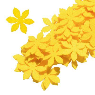 50 Filz Blüten, Streudeko, Tischdeko, in verschiedenen Farben, Motiv 1 – Bild 3