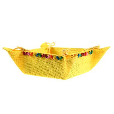 Deko-Schale / Korb zum Zusammenbinden, Körbchen Geschenkkorb 20x20x9cm, Farbwahl – Bild 5