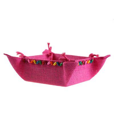 Deko-Schale / Korb zum Zusammenbinden, Körbchen Geschenkkorb 20x20x9cm, Farbwahl – Bild 8
