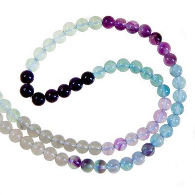 1 Strang / 40cm Fluorit Perlen 6mm, mehrere Farben, hochwertige Zwischenperlen – Bild 1
