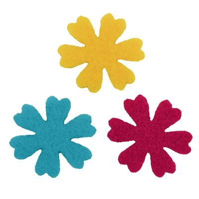 50 Filz Blüten, Streudeko, Tischdeko, in verschiedenen Farben, Motiv 3 – Bild 1