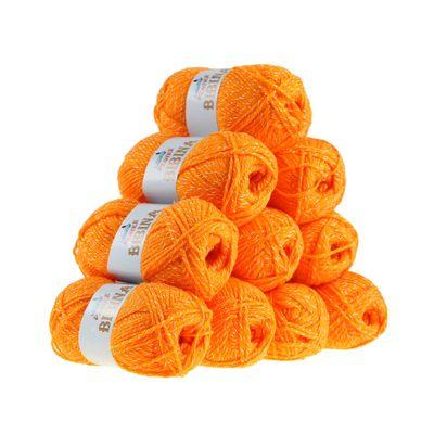 10 x 50g Strickgarn Wolle BIBINA by VLNIKA, freie Farbwahl – Bild 5