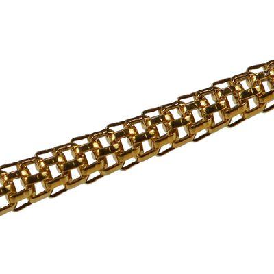 1 Edelstahl Halskette 45,5cm lang Kette, vergoldet goldfarbig – Bild 2